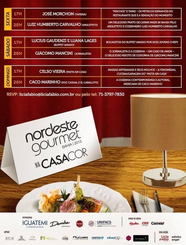 programacao nordeste gourmet 2013