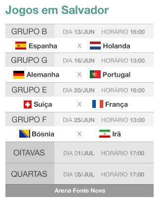 Jogos da Copa em Salvador